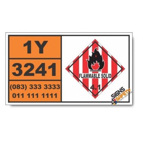 UN3241 2-Bromo-2-nitropropane-1,3-diol, Flammable Solid (4), Hazchem Placard