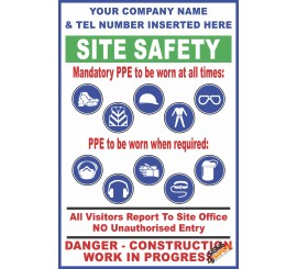 (C35) Site Safety / Personal Protective Equipment Mandatory Sign