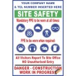 (C36) Site Safety / Personal Protective Equipment Mandatory Sign