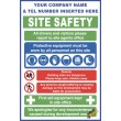 (C64) Construction Site Safety / Construction Site Rules / Personal Protective Equipment Mandatory Sign