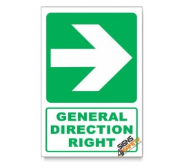 (GA2/D2) General Direction Sign, Arrow Right, Descriptive Safety Sign