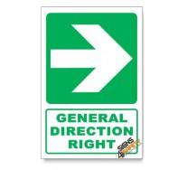 (GA2/D2) General Direction Sign, Arrow Right, Descriptive Safety Sign