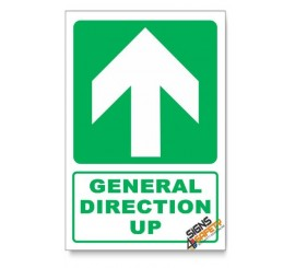 (GA2C/D4) General Direction Sign, Arrow Up, Descriptive Safety Sign