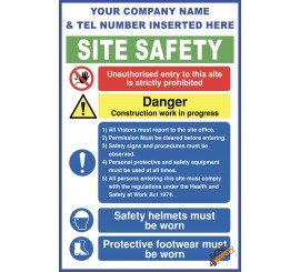 (C67) Construction Site Safety / Construction Site Rules / Personal Protective Equipment Mandatory Sign