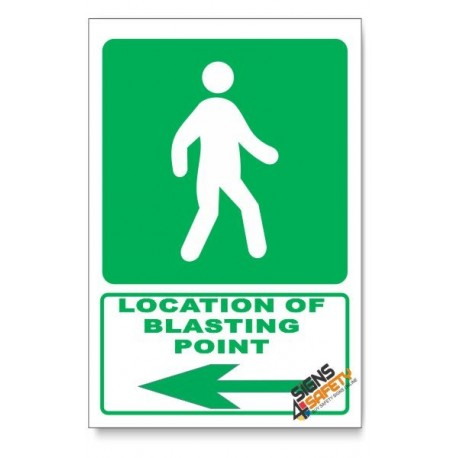 (GA8/D3) Traveling Way Sign, Arrow Left, Descriptive Safety Sign