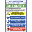 (C72) Construction Site Safety / Construction Site Rules / Personal Protective Equipment Mandatory Sign