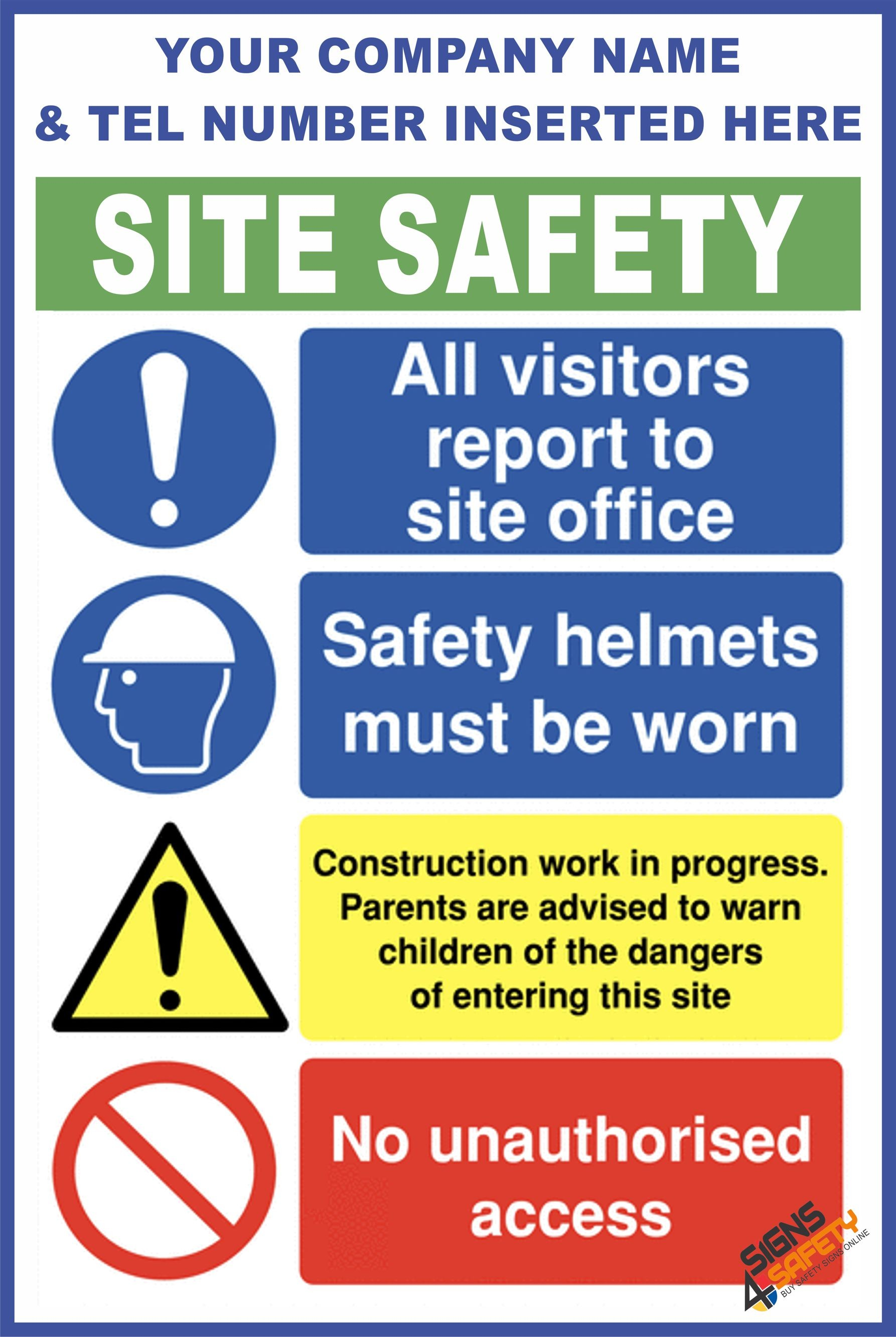 Nosa / SABS (C74) Construction Site Safety / Construction Site Rules /  Personal Protective Equipment Mandatory Sign