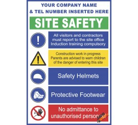 (C27) Site Safety / Hard Hat / Protective Footwear Mandatory Sign