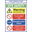 (C78) Construction Site Safety / Vehicle On Site Rules Sign