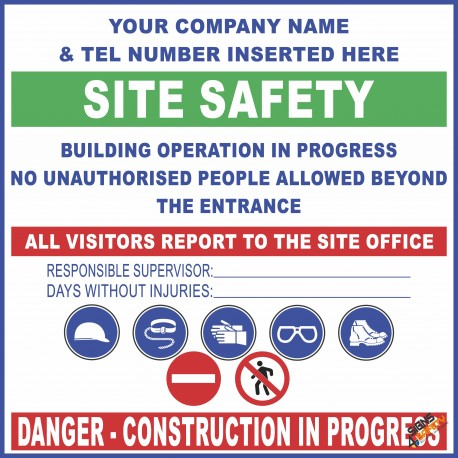 (C38) Site Safety / Personal Protective Equipment Mandatory Sign