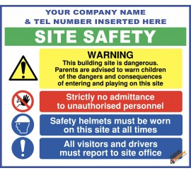 (C70) Site Safety / Personal Protective Equipment Mandatory / Construction Site Rules Sign