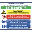 (C77) Site Safety / Personal Protective Equipment Mandatory / Construction Site Rules Sign
