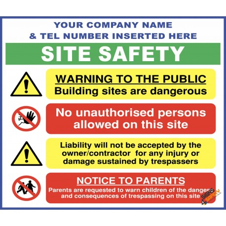 (C79) Site Safety / Personal Protective Equipment Mandatory / Construction Site Rules Sign