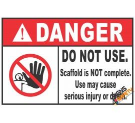 (CS2) Danger Do Not Use Scaffold Sign