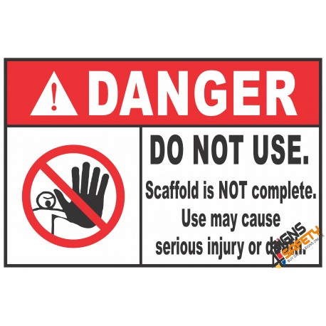 (CS2) Danger Do Not Use Scaffold Sign