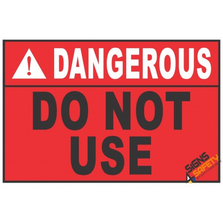 (CS6) Dangerous Scaffold Do Not Use Sign