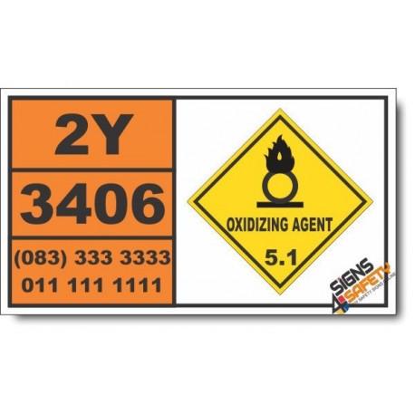 UN3406 Barium perchlorate, solution, Oxidizing Agent (5), Hazchem Placard