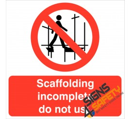 (CS4) Scaffolding Incomplete Do Not Use Sign