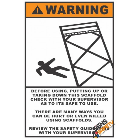 (CS8) Scaffolding Safety Check Before Use Sign