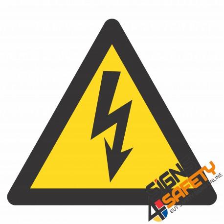 (E1) Electrical Shock Hazard Sign