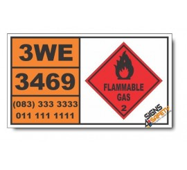 UN3469 Paint related material, flammable, corrosive (including paint thinning, Flammable Liquid (3), Hazchem Placard