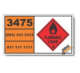 UN3475 Ethanol and gasoline mixture or Ethanol and motor spirit mixture, Flammable Liquid (3), Hazchem Placard
