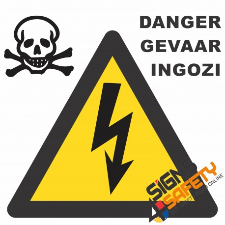 (E3) Electrical Shock Danger Sign