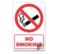 No Smoking Prohibited Descriptive Safety Sign