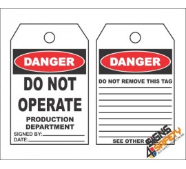(MST4) Danger Do Not Operate Safety Tag (10 Tags / Pack)