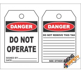 (MST5) Do Not Operate Safety Tag (10 Tags / Pack)