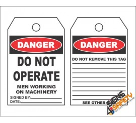 (MST9) Danger Do Not Operate Safety Tag (10 Tags / Pack)