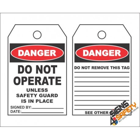 (MST14) Danger Do Not Operate Safety Tag (10 Tags / Pack)