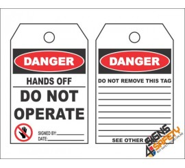 (MST15) Danger Hands Off, Do Not Operate Safety Tag (10 Tags / Pack)