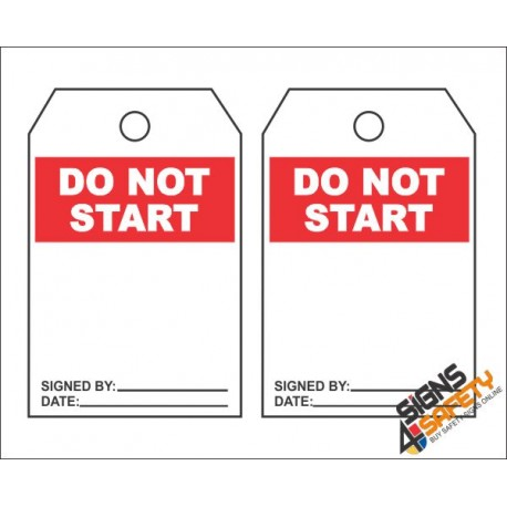 (MST16) Do Not Start Safety Tag (10 Tags / Pack)