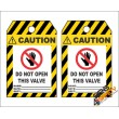 (MST22) Caution Do Not Open Valve Safety Tag (10 Tags / Pack)