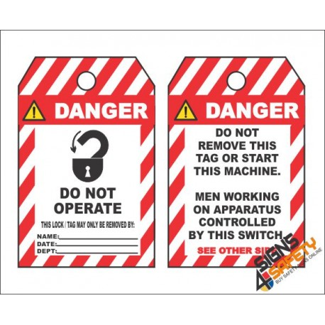 (MST25) Danger Do Not Operate Safety Tag (10 Tags / Pack)