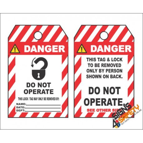 (MST27) Danger Do Not Operate Safety Tag (10 Tags / Pack)