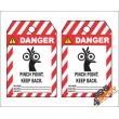 (MST29) Danger Pinch Point Keep Back Safety Tag (10 Tags / Pack)