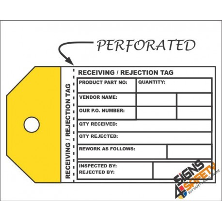 (IST2) Receiving Rejection Inventory Tag