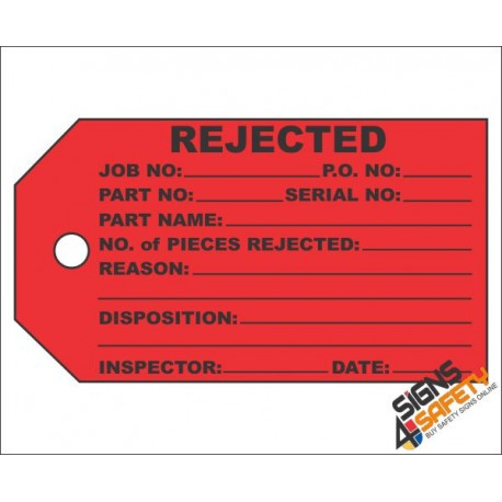 (IST5) Rejected Inventory Tag