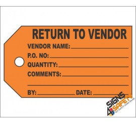 (IST8) Return To Vendor Inventory Tag