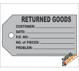 (IST9) Returned Goods Inventory Tag