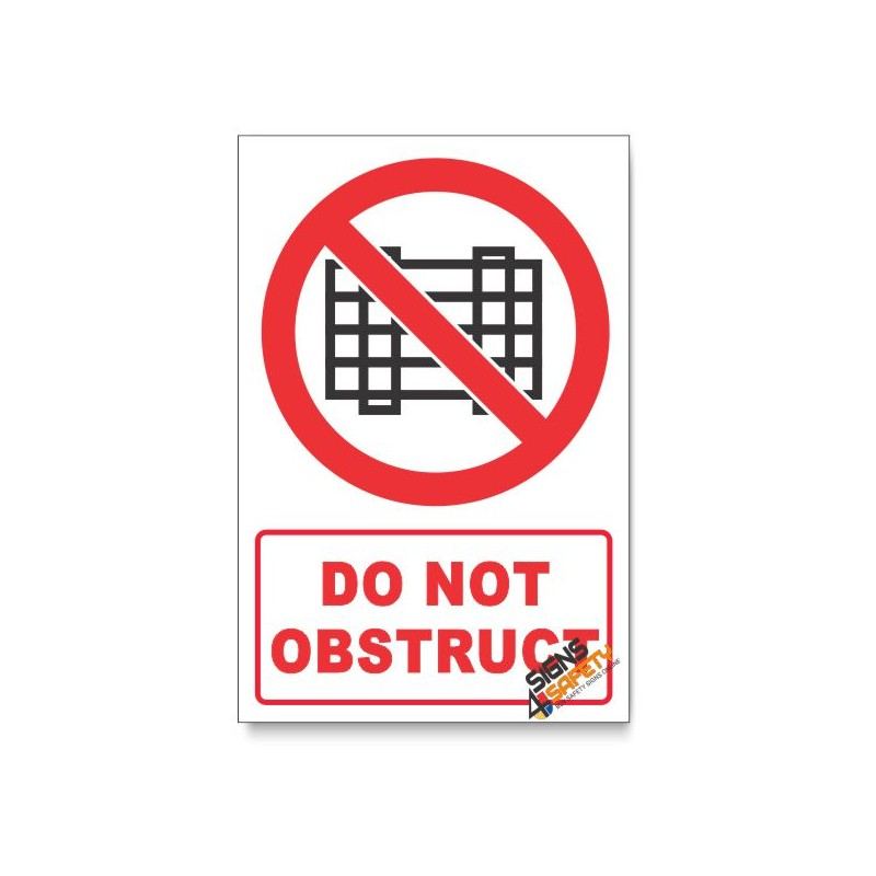 Nosa Sabs Do Not Obstruct Prohibited Descriptive Safety