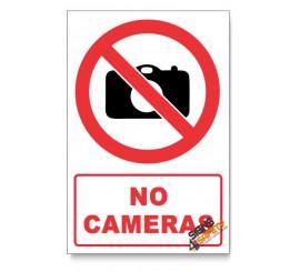No Cameras Prohibited Descriptive Safety Sign