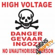 (E9) High Voltage Danger Sign