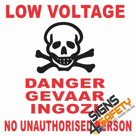 (E10) Low Voltage Danger Sign