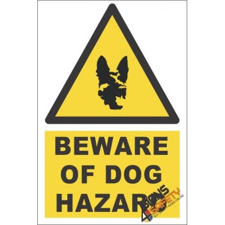 Beware Of Dog, Beware Hazard Descriptive Safety Sign