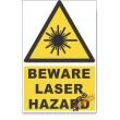 Laser, Beware Hazard Descriptive Safety Sign