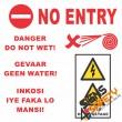 (E12) Do Not Enter / Danger Do Not Wet / Danger High Voltage Sign