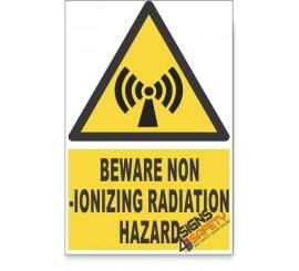 Non-Ionizing Radiation, Beware Hazard Descriptive Safety Sign
